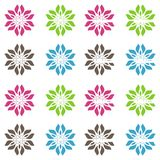 Abstract seamless vivid colored floral pattern background. Abstract seamless vivid colored floral pattern over white background Royalty Free Stock Image
