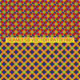 Abstract seamless vivid colorful patterns. Stock Images