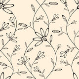 Abstract seamless wallpaper with floral pattern Stock Photography