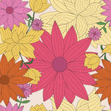 Abstract seamless wallpaper with floral pattern Royalty Free Stock Image