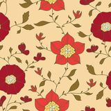 Abstract seamless wallpaper with flowers. Seamless wallpaper for your design royalty free illustration