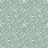Abstract seamless wallpaper with flowers. Seamless background for your design stock illustration