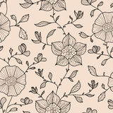 Abstract seamless wallpaper with flowers. Abstract seamless wallpaper for your design royalty free illustration