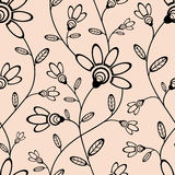 Abstract seamless wallpaper with flowers. Seamless wallpaper for your design vector illustration