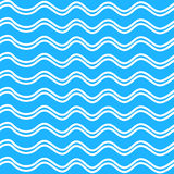Abstract Seamless wave  pattern on a blue background Stock Image