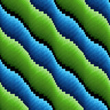 Abstract seamless wavy blue and green stripes Royalty Free Stock Image