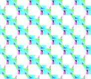 Abstract seamless white background with blue and green and pink lines and triangles. Abstract seamless white background with lines and triangles angles blue and stock illustration
