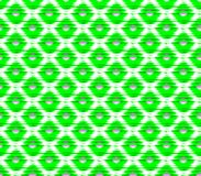 Abstract seamless white background green squares and dots and stripes. Lined in rows to form a pattern similar to the knitted Stock Photography