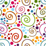 Abstract seamless white pattern Royalty Free Stock Photo