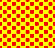 Abstract seamless yellow background red squares. Are laid out in rows and form a continuous pattern Stock Photos