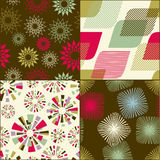 Abstract seamlesss pattern set Stock Photography