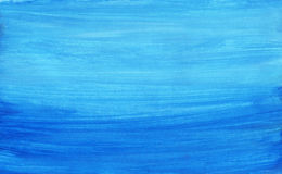 Abstract seascape. Hand painted background on watercolour paper Royalty Free Stock Images