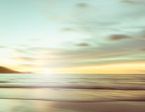 An abstract seascape with blurred panning motion background Stock Photos