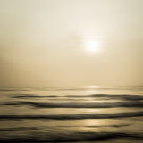 Abstract seascape with blurred panning motion background Royalty Free Stock Photo