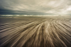 Abstract seascape with long exposure Royalty Free Stock Photography