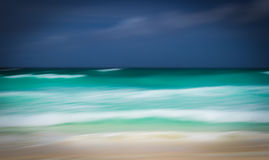 Abstract seascape with panning motion Stock Photography