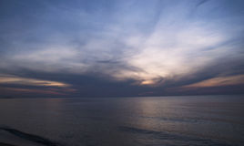 Abstract Seascape at Sunset stock photo