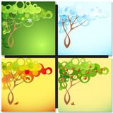 Abstract season tree Royalty Free Stock Image