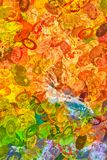 Autumn Landscape Abstract in Seasonal Colors. Abstract in the seasonal colors of autumn including red orange yellow and green stock images