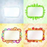 Abstract seasonal frames Stock Photos