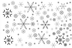 Abstract seasonal and holiday background. With snowflakes isolated over white Vector Illustration