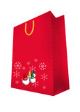 Abstract seasonal and holiday shopping bag Stock Photo