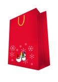 Abstract seasonal and holiday shopping bag Stock Photo