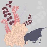 Abstract seasonal illustration. Bird in a garden - abstract seasonal illustration Royalty Free Illustration