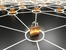 Abstract secure network concept Stock Photography
