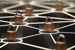 Abstract secure network concept Stock Photos