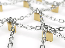Abstract secure network concept Stock Photo