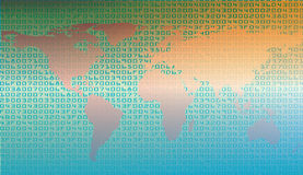 Abstract security background with HEX-code and map of world Royalty Free Stock Photo