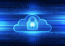 Abstract security cloud technology background. Illustration Vector Royalty Free Stock Photography