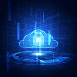 Abstract security cloud technology background. Illustration Vector Stock Photography