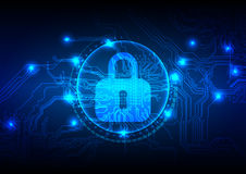 Abstract security digital technology background. Illustration Ve Stock Images