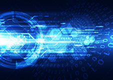 Abstract security digital technology background. Illustration Vector Royalty Free Stock Photo