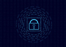 Abstract security encrypt data concept and message digest.  Royalty Free Stock Photos
