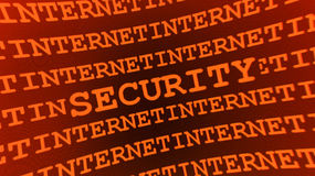 Abstract security sign. Abstract orange securty sign - illustration Stock Image