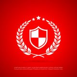 Abstract security vector icon. Abstract security vector symbol isolated on red background Stock Photography