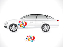 Abstract sedan car sticker Royalty Free Stock Image