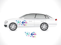 Abstract sedan car sticker Stock Photo