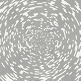 Abstract segmented geometric circle shape. Radial concentric circles. Rings. Swirly concentric segmented circles. Design. Element. Random lines. Vector stock illustration