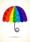 Abstract segmented rainbow umbrella Stock Photography