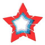Abstract segmented star isolated Royalty Free Stock Photo