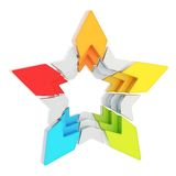 Abstract segmented star isolated Royalty Free Stock Photos