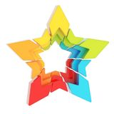 Abstract segmented star isolated Stock Image