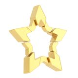 Abstract segmented star isolated Stock Images
