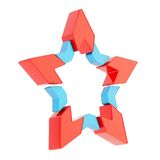 Abstract segmented star isolated Royalty Free Stock Images