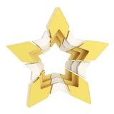 Abstract segmented star isolated Stock Photo