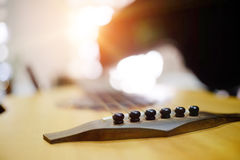 Abstract selective focus a guitar with empty copy space for add royalty free stock photos
